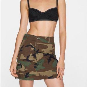 NWOT Nasty Gal After Party Camo Skirt